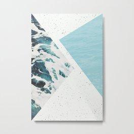 Abstract ocean Metal Print