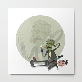 The walking dead Merle eating governor Metal Print