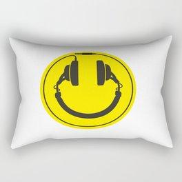 Headphones smiley wire plug Rectangular Pillow