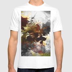 Ink, Love White Mens Fitted Tee MEDIUM