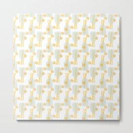 Modern pastel green orange fruit pasta abstract pattern Metal Print