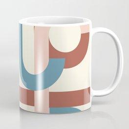 Geometric abstract midcentury beige brown  Coffee Mug