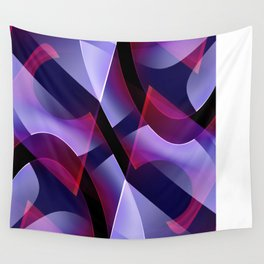 Pattern purple, pink, white Wall Tapestry