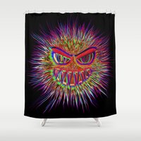 jojo Shower Curtains featuring Jojo the little Monster by MehrFarbeimLeben