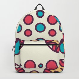 Pink And Blue Circle Boho Pattern Backpack