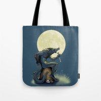 werewolf Tote Bags featuring Werewolf! by drubskin