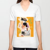 ramen V-neck T-shirts featuring Royal Ramen by f-premaur