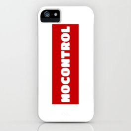 NoControl iPhone Case