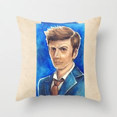 David Tennant 10th Doctor Who Throw Pillow