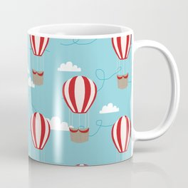 Hot air balloon pattern cute decor for boys or girls room Coffee Mug
