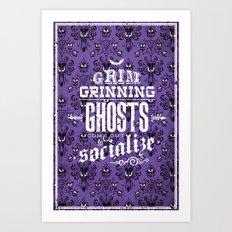 Haunted Mansion - Grim Grinning Ghosts Art Print
