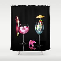 cocktail Shower Curtains featuring Cocktail by Simone Gatterwe