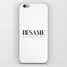 BESAME MUCHO SIGN, Love Quote,Love Art,Wedding Quote,Girls Room Decor,Girly Svg,Lovely Words,Modern iPhone Skin