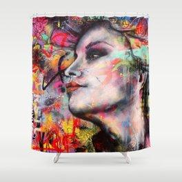 Urban-Girl Original Painting Shower Curtain