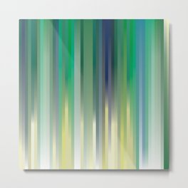 background, blue, green and yellow strips Metal Print