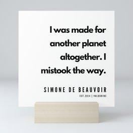 19        Simone De Beauvoir Quotes   190605 Mini Art Print