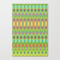 ikat Canvas Prints featuring Ikat  by Amber Nuttall