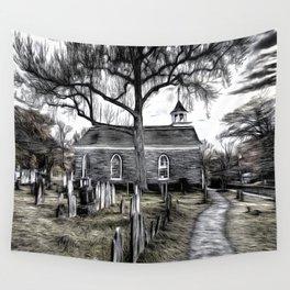Sleepy Hollow Church Art Wall Tapestry