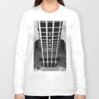 bass Long Sleeve T-shirts featuring bass guitar by Falko Follert Art-FF77