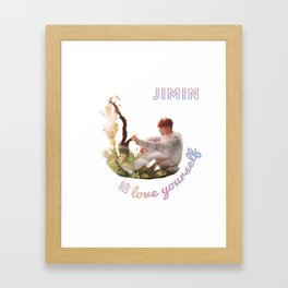 BTS Love Yourself Answer Design - Jimin Framed Art Print