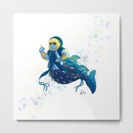 Globefish mermaid Metal Print