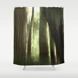 Redwood Abstract Shower Curtain