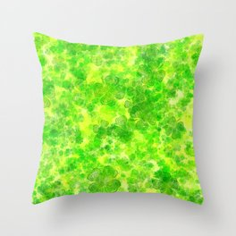 St Patrick's Day Hypnotic Clover Field Throw Pillow