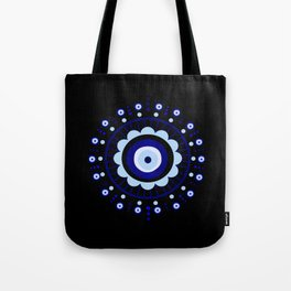Evil Eye Flower Burst Tote Bag