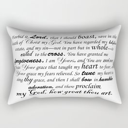 Prayer of Hymns Rectangular Pillow
