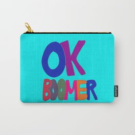 OK BOOMER in 1960s colors Carry-All Pouch