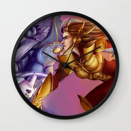 Down with the moon Wall Clock