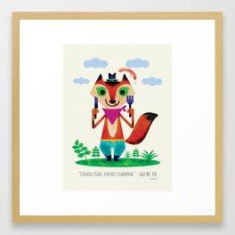 Mr Fox by Steve Mack Framed Art Print