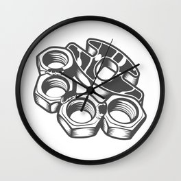 "Fashion Modern Design Print ""Brass Knuckles""! Rap, Hip Hop, Rock style and more Wall Clock"