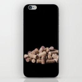 Wine corks close up iPhone Skin
