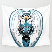 skyfall Wall Tapestries featuring Skyfall Dragon by Pr0l0gue