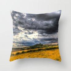The Hillside Storm Throw Pillow