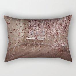 Electric Flowers Rectangular Pillow