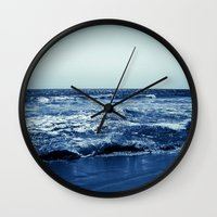 wave Wall Clocks featuring Wave by Michelle McConnell