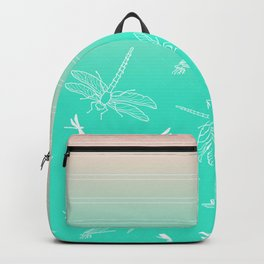 Dragonfly, Pink and Green Blush Backpack