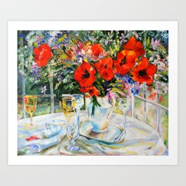 Bouquet on the table Art Print