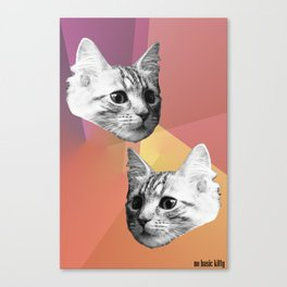 Basic Kitty Canvas Print