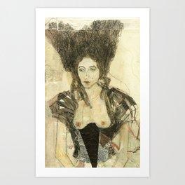 Hommage à Beardsley XIII Art Print