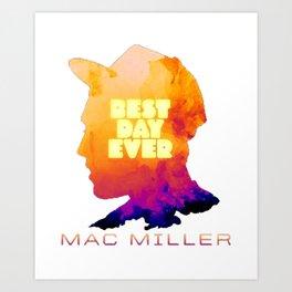 MAC MILLER---BEST DAY EVER Art Print