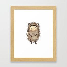Hattie Hedgehog Framed Art Print