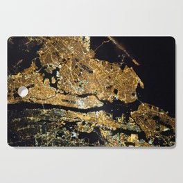 Space Station View of New York City at Night Photograph Cutting Board