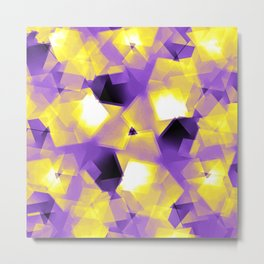 Nonbinary Pride Layered Transparent Radiant Rectangles Metal Print