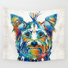 Colorful Yorkie Dog Art - Yorkshire Terrier - By Sharon Cummings Wall Tapestry