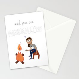 Mind your own Marshmallows Stationery Cards
