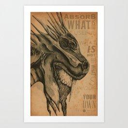 Dragon Motivation Art Print