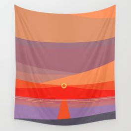 Sunset on the beach at 5:32 pm Wall Tapestry